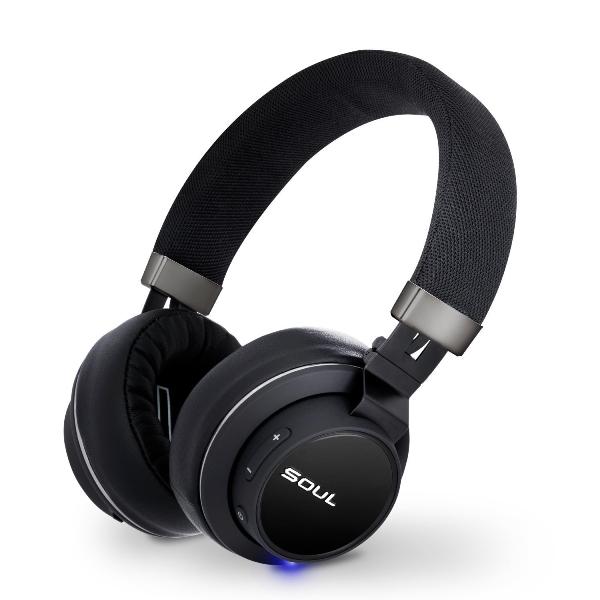 Гарнитура SOUL IMPACT OE Беспроводные, проводные / Накладные с микрофоном /Черный / 20 Гц - 20 кГц / Одностороннее / до 18 ч / Bluetooth, Mini-jack / 3.5 мм гарнитура ienjoy in066