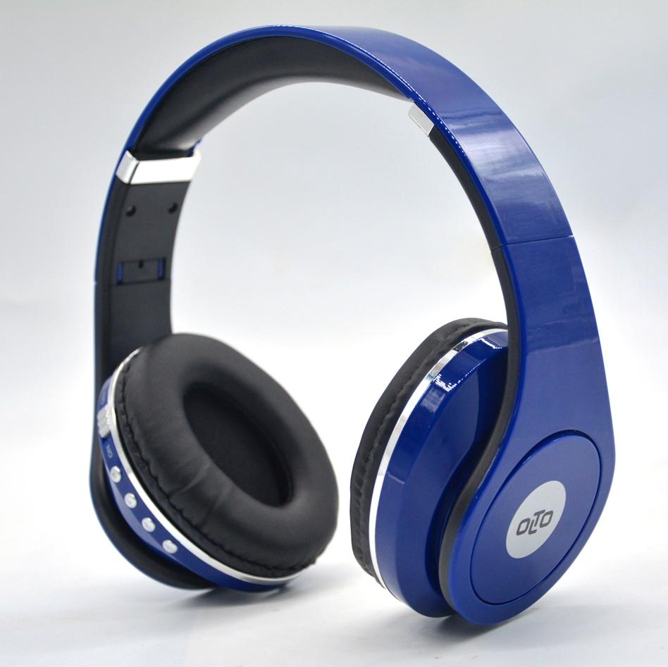 Наушники(гарнитура) OLTO HBO-155 blue Беспроводные, проводные / Накладные с микрофоном / Синий / 20 Гц - 20 кГц / Одностороннее / до 5 ч / Bluetooth, Mini-jack / 3.5 мм новые беспроводные наушники для bluetooth гарнитуру bluetooth гарнитура стерео наушники с микрофоном auriculares спорта работает