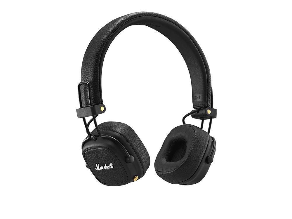 Фото - Наушники (гарнитура) Marshall Major III Bluetooth Black Беспроводные, проводные / Накладные с микрофоном / Черный / 20 Гц - 20 кГц / 97 дБ / Одностороннее / до 30 ч / сети проводные и беспроводные