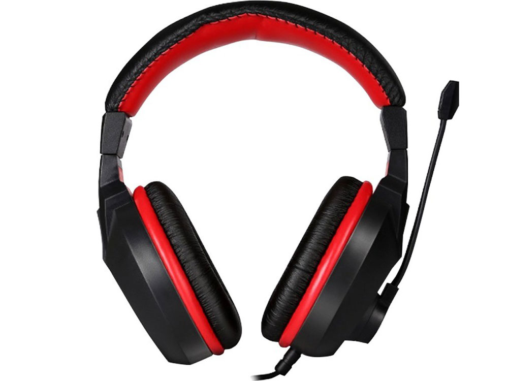 Гарнитура MARVO H8321 black+red (полноразмерные,регулятор громкости) гарнитура qcyber roof black red звук 7 1 2 2m usb