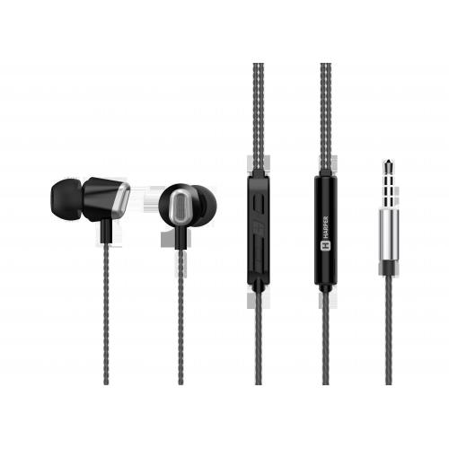 Наушники (гарнитура) HARPER HV-406 Black Проводные / Внутриканальные / Черный / 20 Гц - 20 кГц / 103 дБ / Двухстороннее / Mini-jack / 3.5 мм гарнитура harper hv 101 black проводные внутриканальные с микрофоном черный 20 гц 20 кгц 115 дб двухстороннее mini jack 3 5 мм