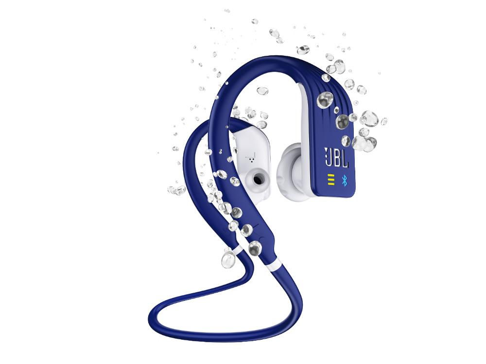 Наушники (гарнитура) JBL Endurance DIVE Blue Беспроводные / Внутриканальные с микрофоном / Синий / 20 Гц - 20 кГц / 102 дБ / Bluetooth, Micro-USB