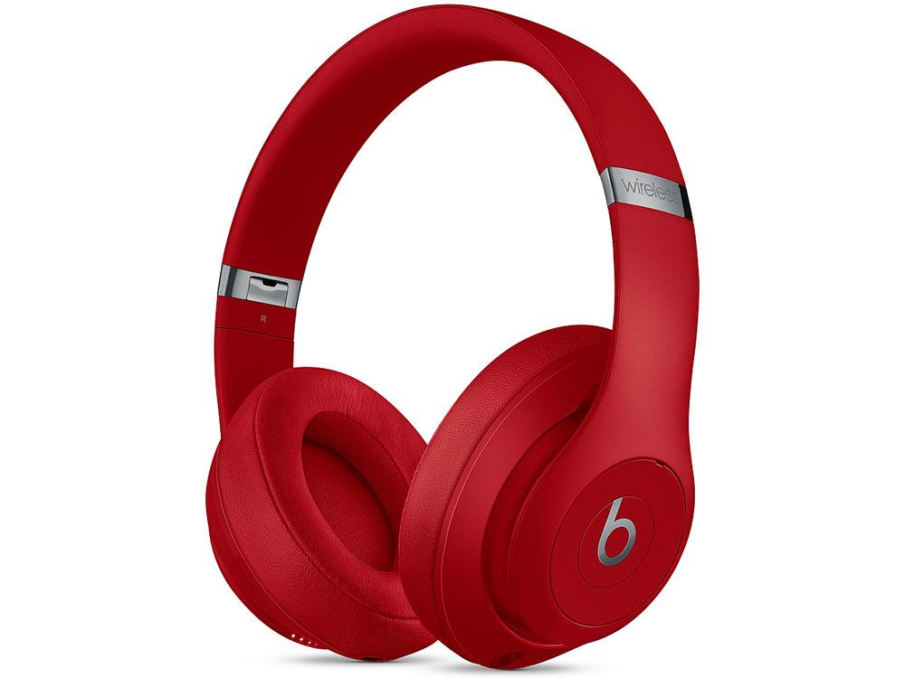 Наушники Apple Beats Studio3 Wireless MQD02EE/A Беспроводные / Накладные / Красный / Одностороннее / Mini-jack 3.5 мм / Bluetooth гарнитура мониторы beats studio3 skyline collection черный беспроводные bluetooth оголовье
