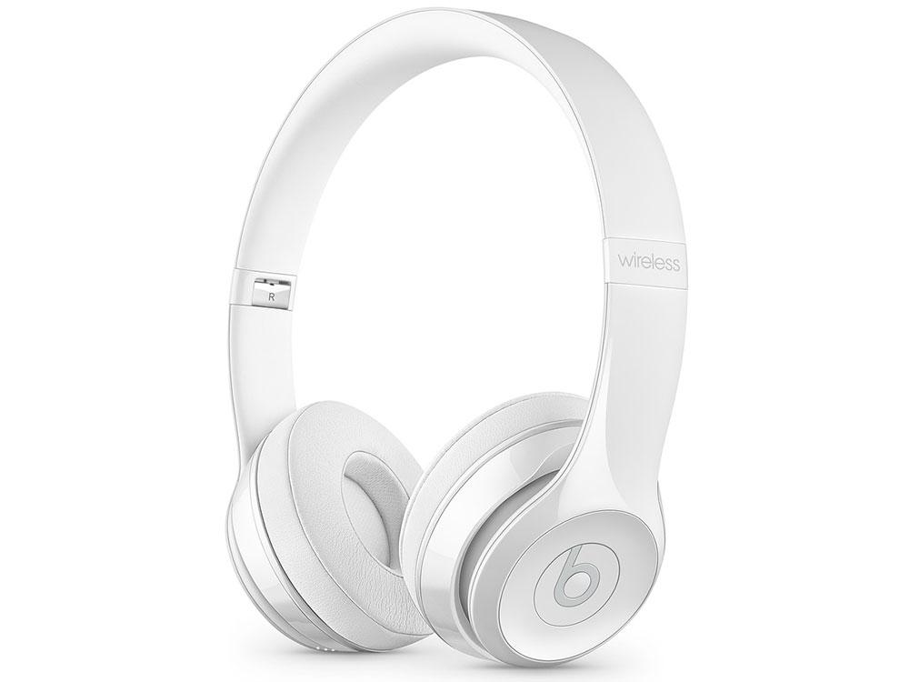 Фото - Наушники (гарнитура) Beats Solo3 1.36м White Беспроводные, проводные / Полноразмерные с микрофоном / Белый / 20 Гц - 31 кГц / 110 дБ / Одностороннее / Bluetooth, Min сети проводные и беспроводные