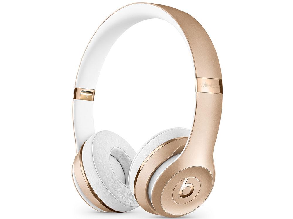 Наушники (гарнитура) Beats Solo3 MNER2EE/A Gold Беспроводные, проводные / Накладные с микрофоном / Золотистый / 20 Гц - 31 кГц / 110 дБ / Одностороннее / Bluetooth, m беспроводные наушники jabra move gold
