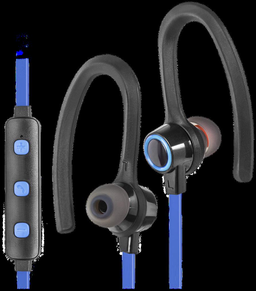 Bluetooth-Гарнитура Defender OutFit B720 Беспроводные / Внутриканальные с микрофоном / черный+синий / 20 Гц - 20 кГц / 104 дБ / до 4 ч / Bluetooth, Micro-USB наушники philips shb3075bk 00 черный беспроводные полноразмерные с микрофоном черный 9 гц 21 кгц 103 дб до 12ч bluetooth micro usb