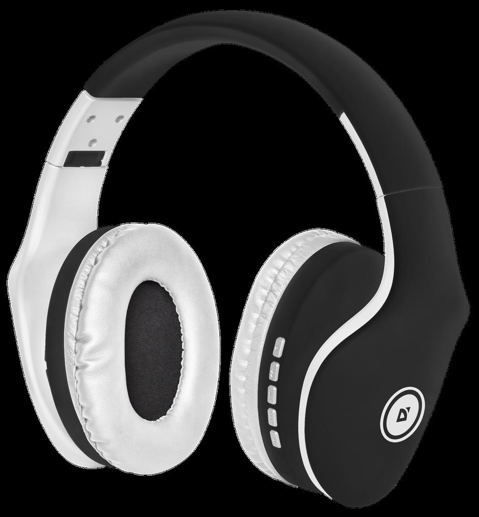 Bluetooth-гарнитура Defender FreeMotion B525 Black White defender freemotion hn b601 bluetooth наушники с микрофоном