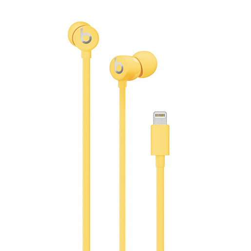 лучшая цена Наушники (гарнитура) Beats Urbeats3 MUHU2EE/A Yellow Проводные / Внутриканальные с микрофоном / Желтый / 20 Гц - 20 кГц / 115 дБ / Lightning