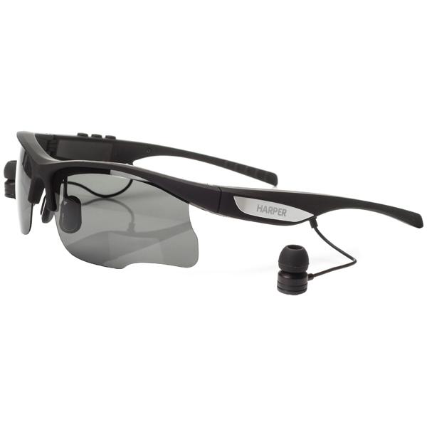Очки с гарнитурой HARPER HB-600 black Беспроводные / Внутриканальные с микрофоном / Черный / 20 Гц - 20 кГц / 112 дБ / до 8 ч / Bluetooth harper hb 500 black спортивная повязка с bluetooth гарнитурой