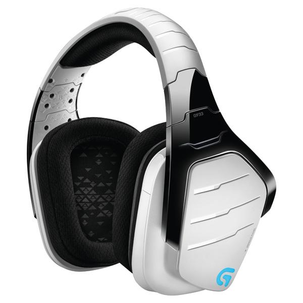 Наушники (Гарнитура) Logitech Gaming Headset Wireless 7.1 Surround G933 WHITE (981-000621) Бепроводные, проводные / Полноразмерные с микрофоном / Черный / 20 Гц - 20 кГц / 107 д цена и фото