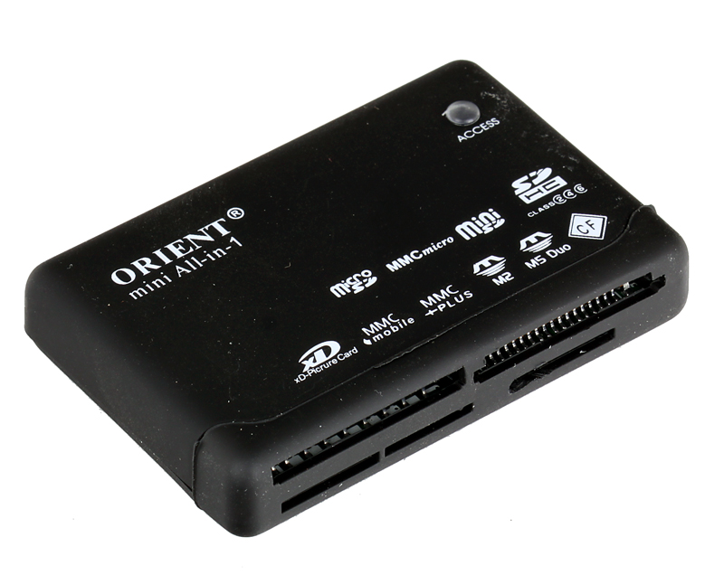 Картридер Orient Mini CR-02BR Black