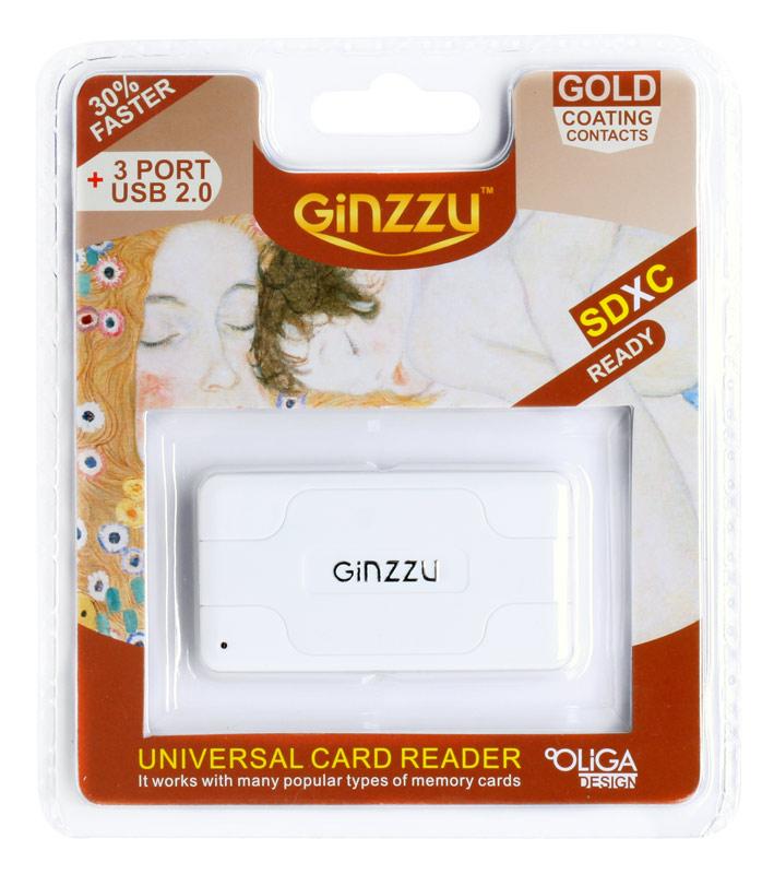 Картридер Ginzzu GR-417UW White