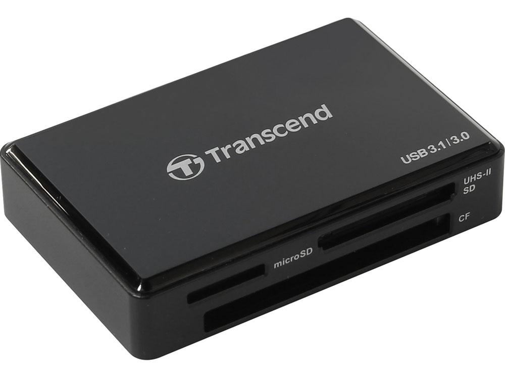 Картридер Transcend TS-RDF8K USB3.0 ридер для карт SDXC/UDMA7 CF/SD UHS/MSXC черный transcend rdf5 sd microsd usb 3 0 черный ts rdf5k