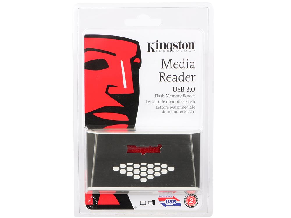 Картридер внешний Kingston FCR-HS4 USB3.0 бело-коричневый