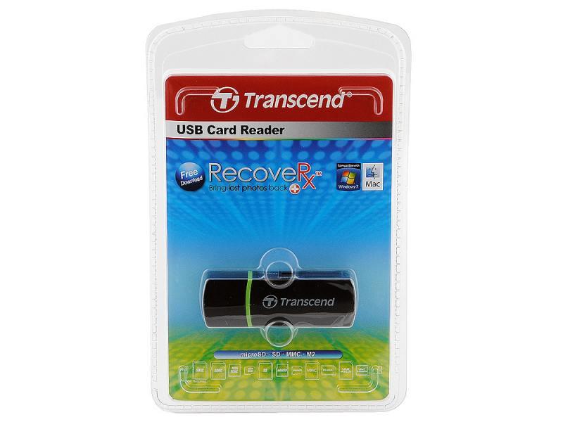 Картридер внешний Transcend TS-RDP5K SD/SDHC/MMC/microSDHC/M2 черный