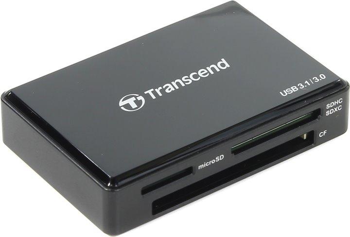 Картридер внешний Transcend TS-RDC8K USB 3.1/3.0 Gen 1 черный
