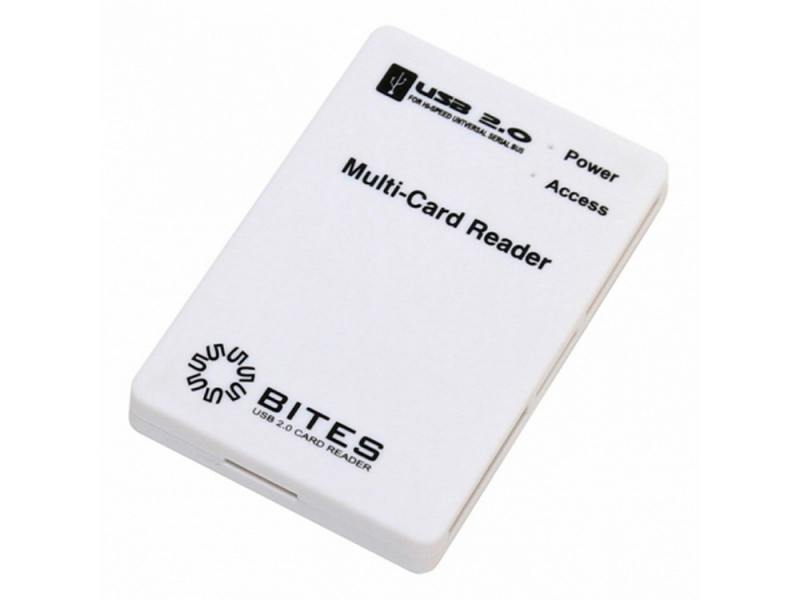 Картридер внешний 5bites RE2-101WH USB2.0 ext all-in-1 белый
