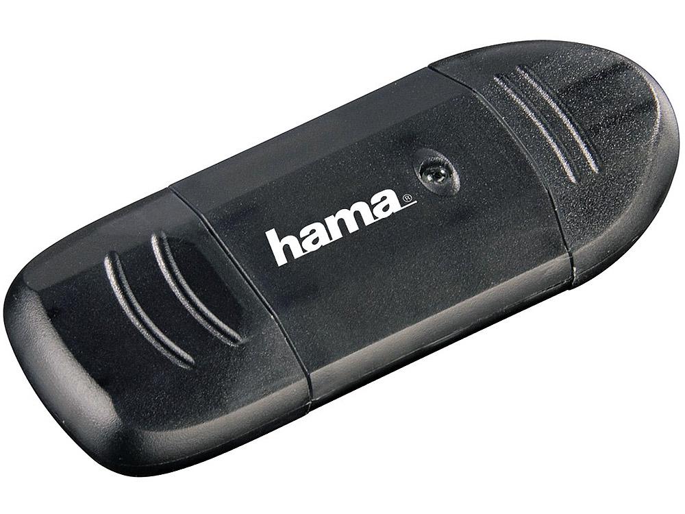 Картридер внешний Hama H-114731 USB2.0 черный 00114731