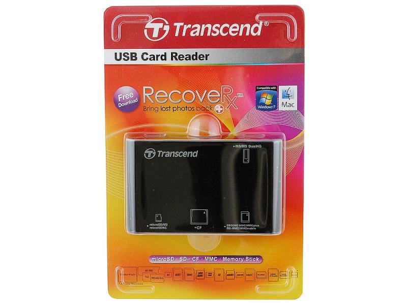 Картридер внешний Transcend TS-RDP8K картридер transcend ts rdf5k usb3 0 sd microsd ts rdf5k