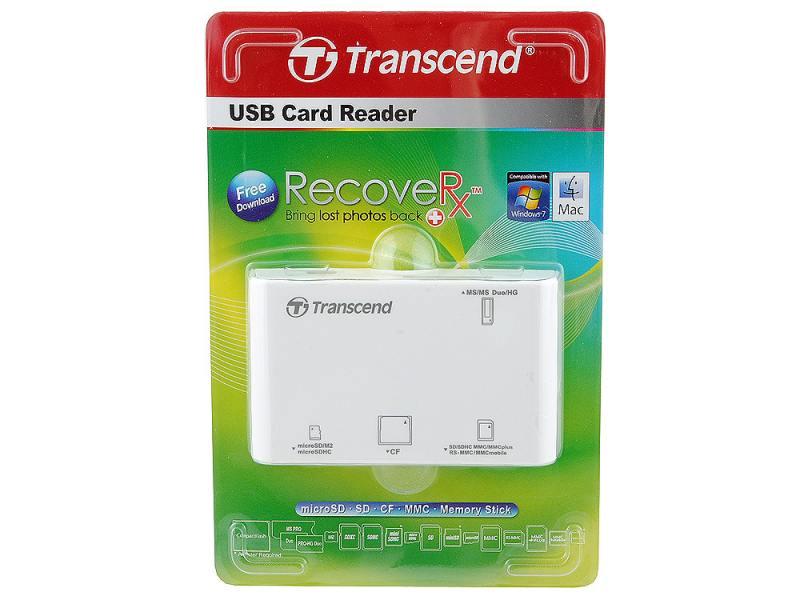 Картридер внешний Transcend TS-RDP8W картридер transcend ts rdf5k usb3 0 sd microsd ts rdf5k