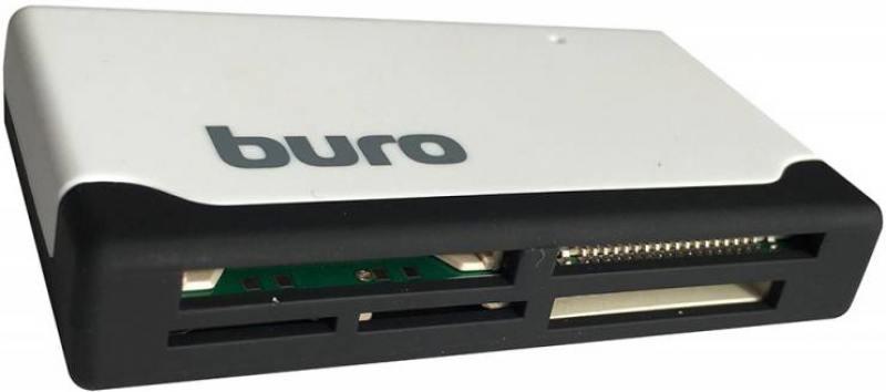 Картридер внешний Buro BU-CR-2102 USB2.0 белый