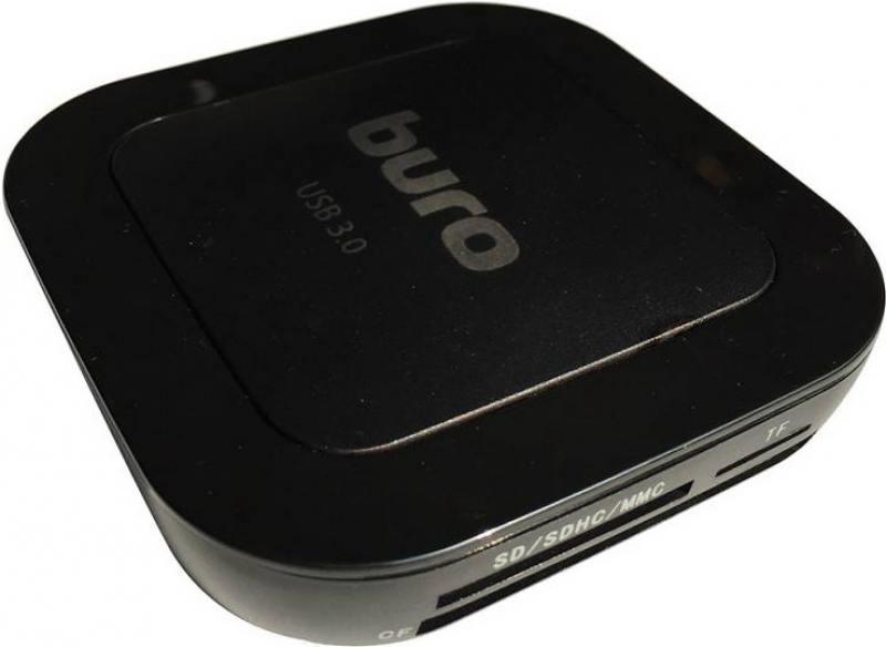 Картридер внешний Buro BU-CR/HUB3-U3.0-C004 USB3.0 черный