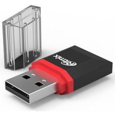 Картридер Ritmix CR-2010 black, microSD, 1xUSB High speed USB 2.0, Plug-n-Play, питание от USB, 5В, скорость, до 480 Мбит/ universal battery charger w usb outlet for sony ericsson x10i more black 2 flat pin plug