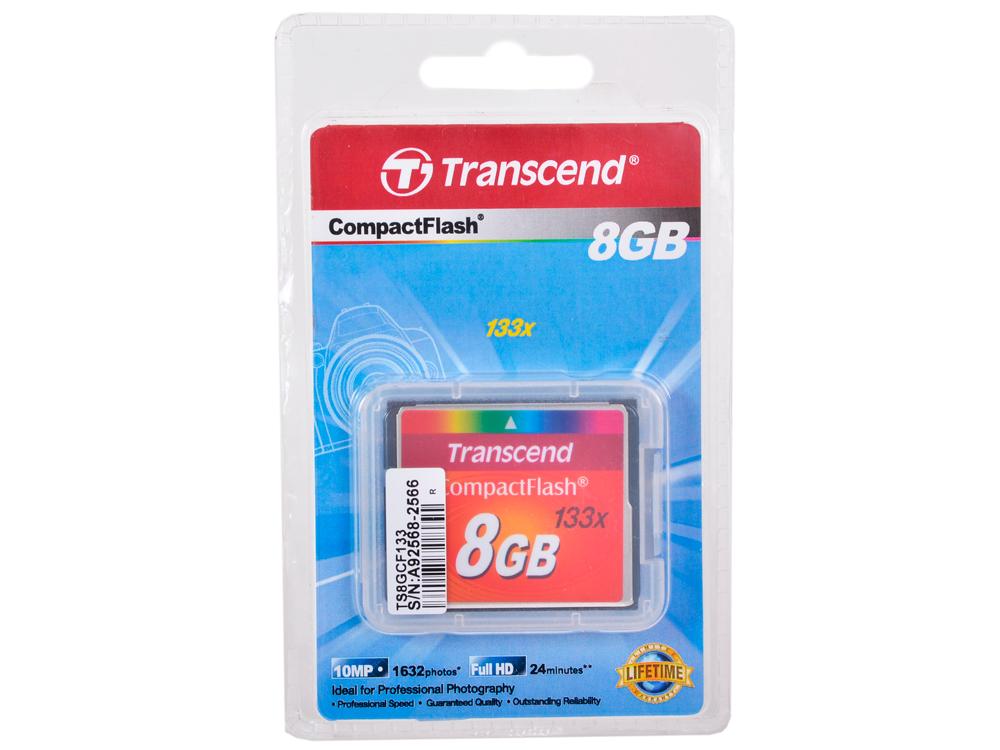 Compact Flash Transcend  8Gb (TS8GCF133) от OLDI