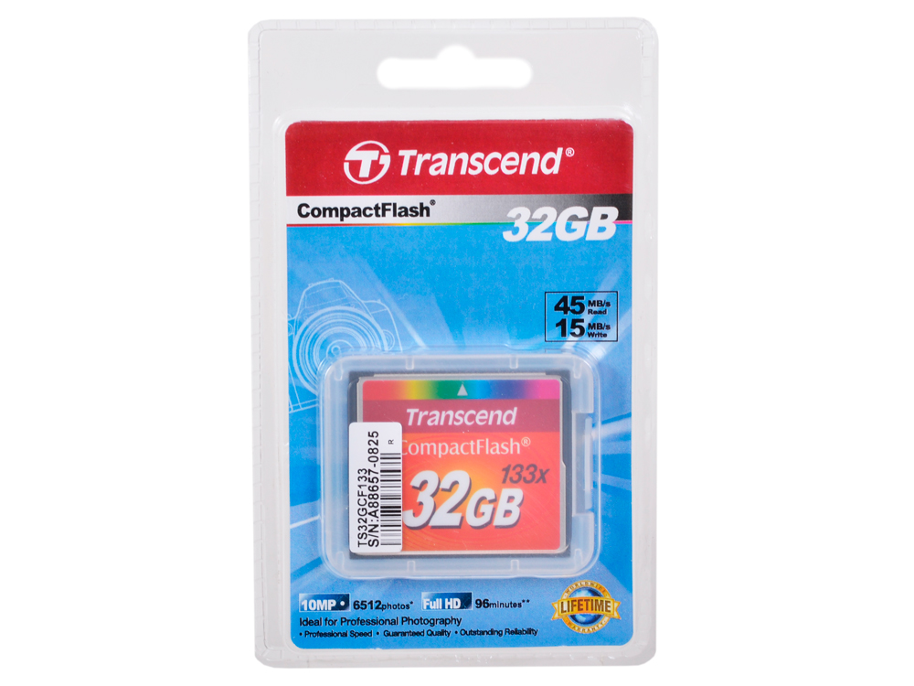 Compact Flash Transcend 32Gb (TS32GCF133) от OLDI