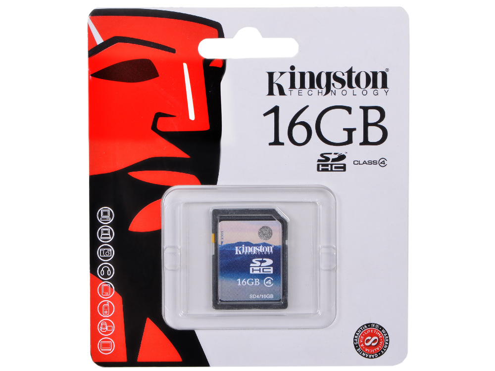 SDHC Kingston 16Gb Class 4 (SD4/16GB) от OLDI