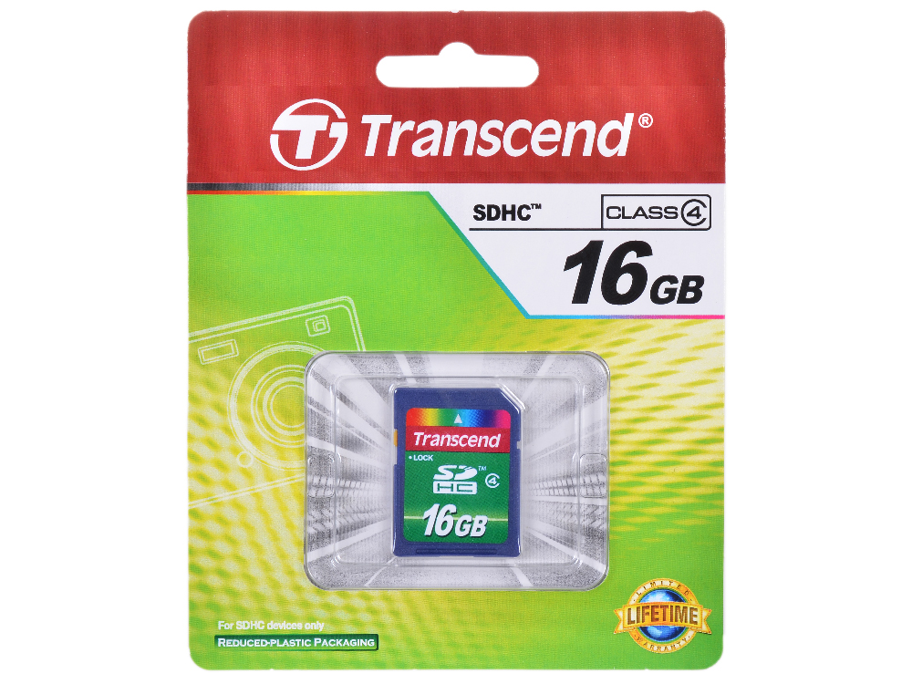 SDHC Transcend 16Gb Class 4 (TS16GSDHC4)