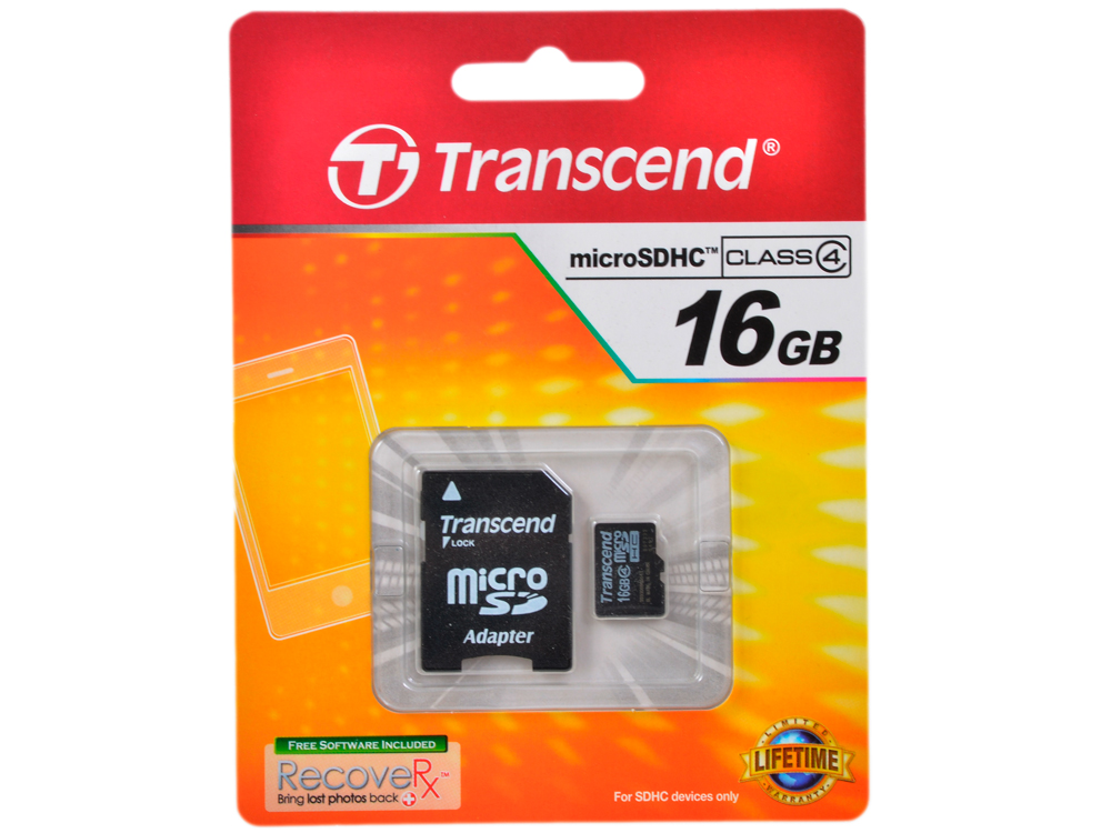 TS16GUSDHC4 transcend transcend ts16gusdhc4 16gb class 4