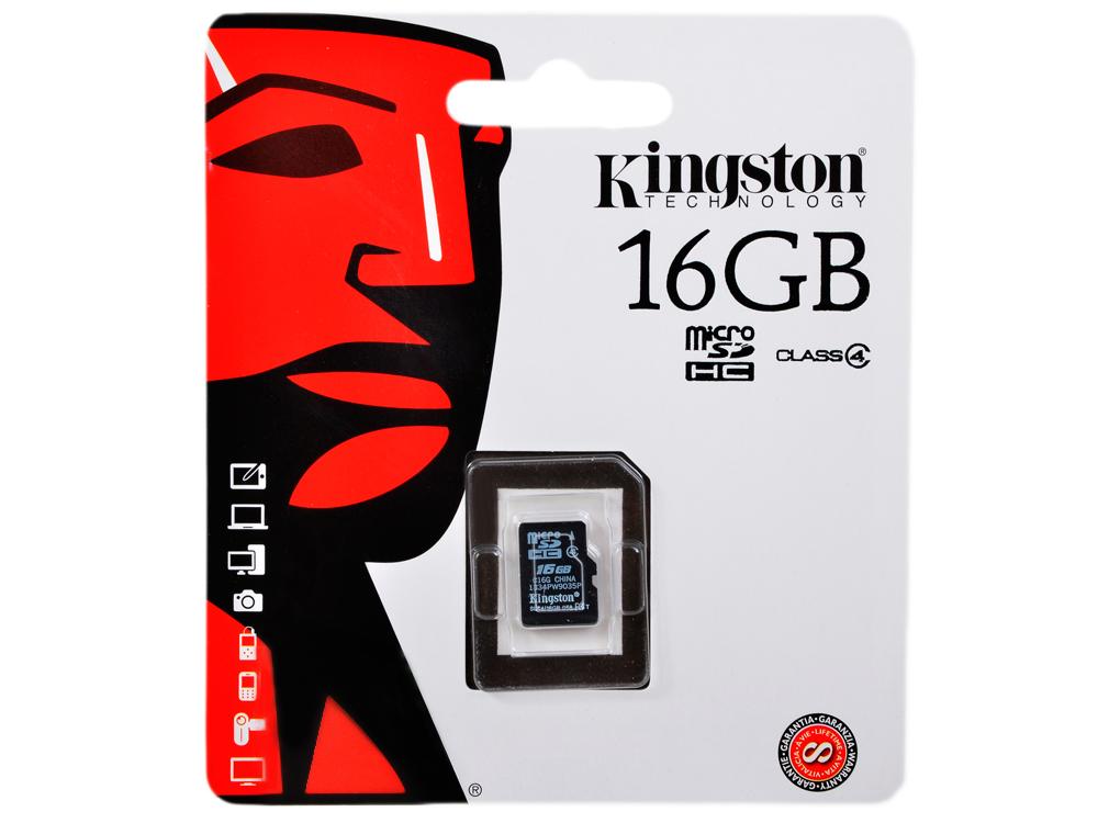 MicroSDHC Kingston 16GB Class 4 (SDC4/16GBSP) матрас orthosleep лиза 80х200