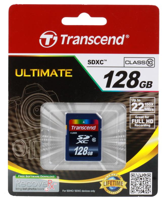 SDXC Transcend 128Gb Class10 (TS128GSDXC10) карта памяти sdxc 128gb class 10 transcend ts128gsdxc10