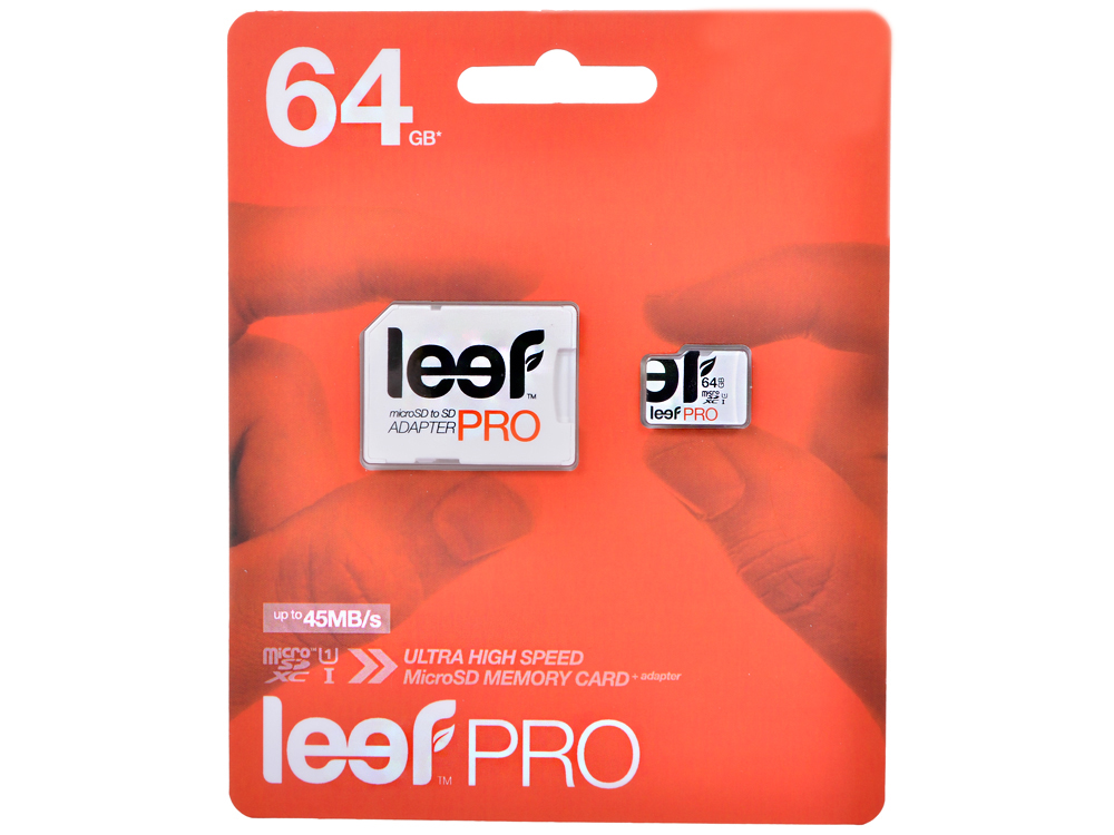 Карта памяти MicroSDXC 64GB Leef Class10 PRO (LFMSDPRO-06410R) карта памяти samsung pro plus 2 microsdxc 64gb class10 adapter