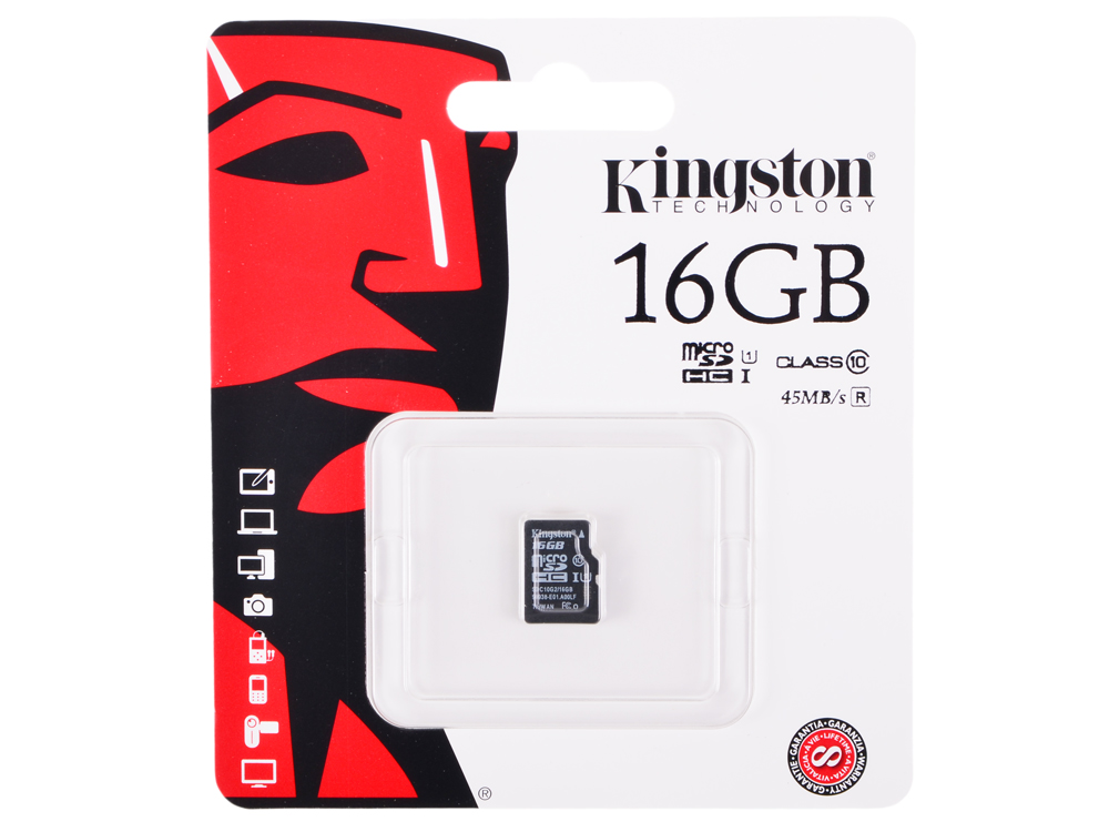 SDCA10G2/16GBSP карта памяти kingston sdc10 16gbsp
