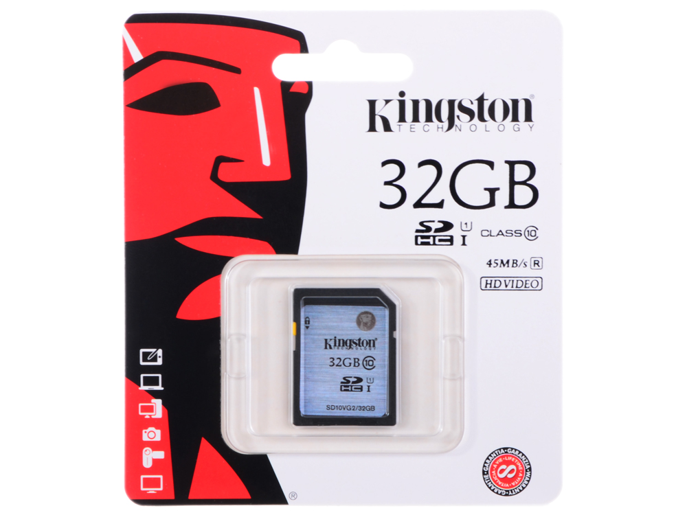 SDHC Kingston 32Gb Class10 G2 Video (SD10VG2/32GB)