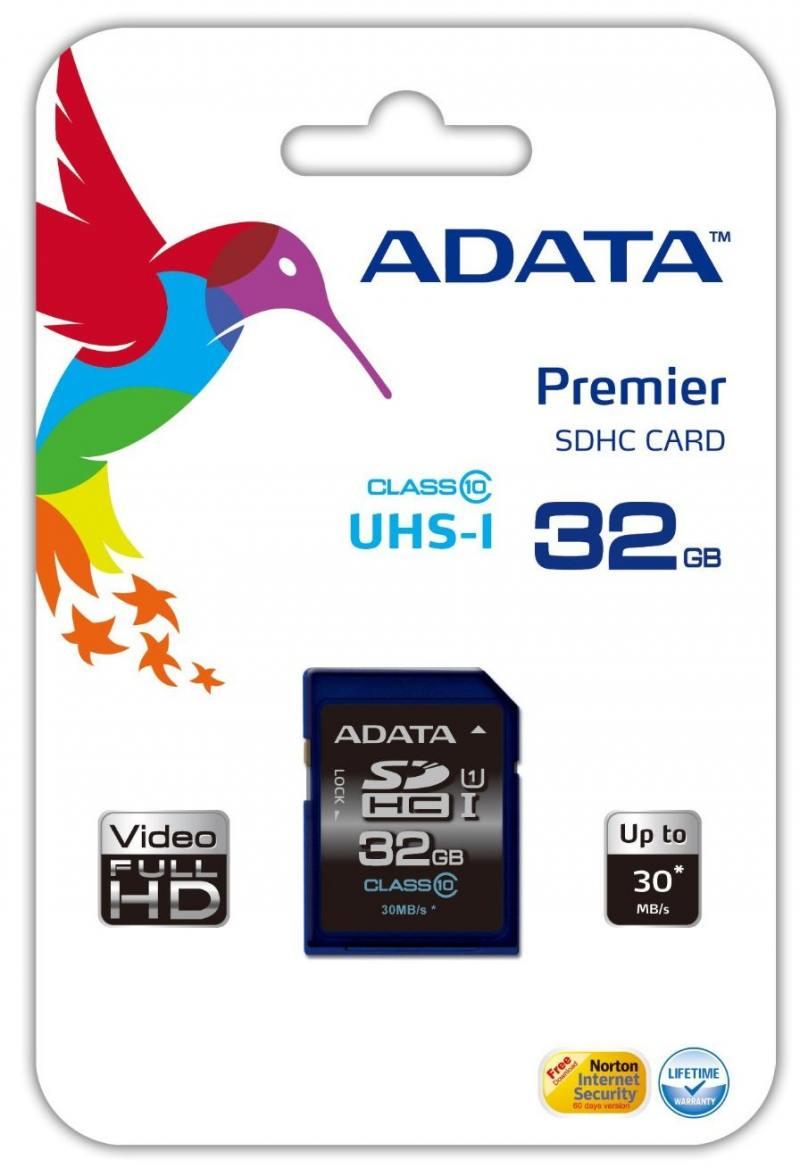 Карта памяти SDHC 32GB Class 10 A-data ASDH32GUICL10-R