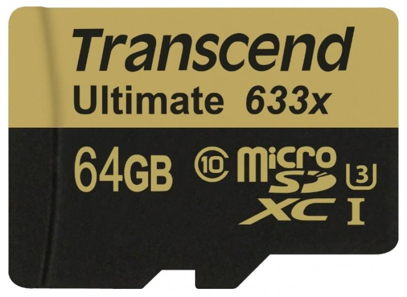 MicroSDXC Transcend 64Gb Class10 (TS64GUSDU3) transcend microsdxc class 10 uhs i 64gb карта памяти адаптер