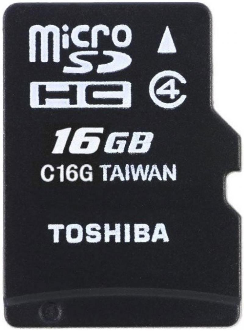 MicroSDHC Toshiba 16Gb Class 4 (THN-M102K0160M4)