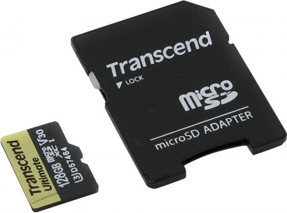 Карта памяти Micro SDXC 128Gb Class 10 Transcend TS128GUSDU3M карта памяти sdxc 128gb class 10 transcend ts128gsdxc10 page 5