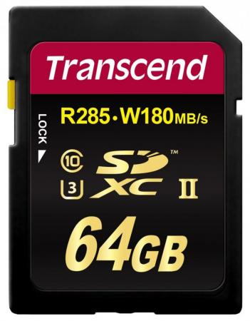 Карта памяти SDXC 64Gb Class 10 Transcend TS64GSD2U3 smartbuy sdxc 64gb class 10