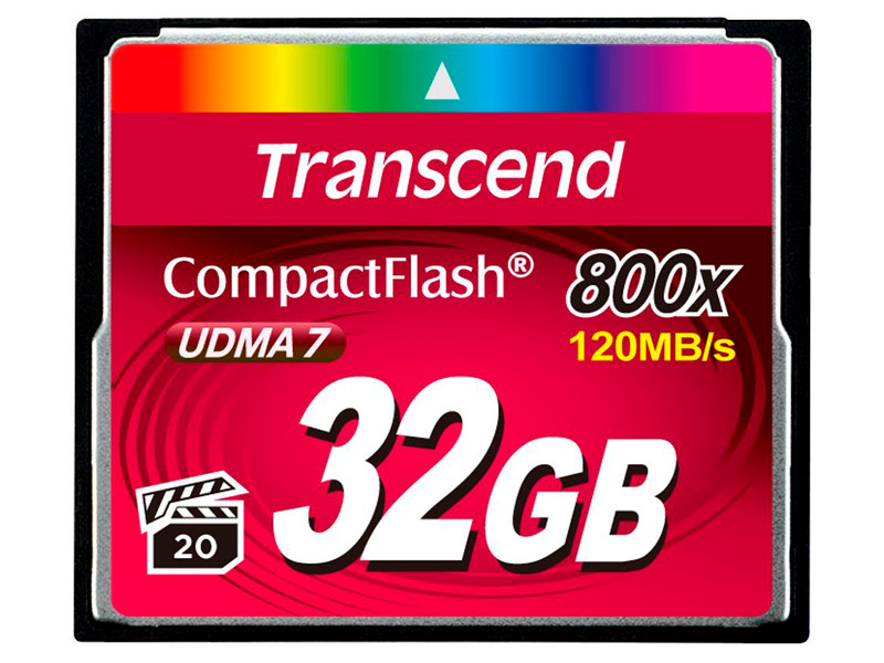 Карта памяти Compact Flash 32GB Transcend Premium, 800x (TS32GCF800) карта памяти набор переходников espada microsd minisd на compact flash e sdcsca comp fl