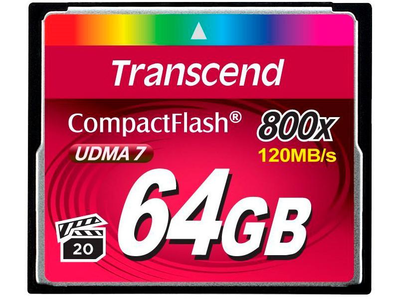 Карта памяти Compact Flash 64GB Transcend Premium, 800x (TS64GCF800) карта памяти набор переходников espada microsd minisd на compact flash e sdcsca comp fl