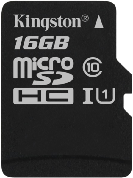 Карта памяти MicroSDHC 16GB Kingston Canvas Select 80R CL10 UHS-ISP без адаптера (SDCS/16GBSP) карта памяти kingston sdc10 16gbsp