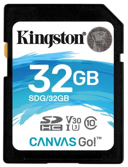 Карта памяти SDHC 32GB Class 10 Kingston SDG/32GB карта памяти 32gb kingston high capacity class 10 secure digital sd10vg2 32gb