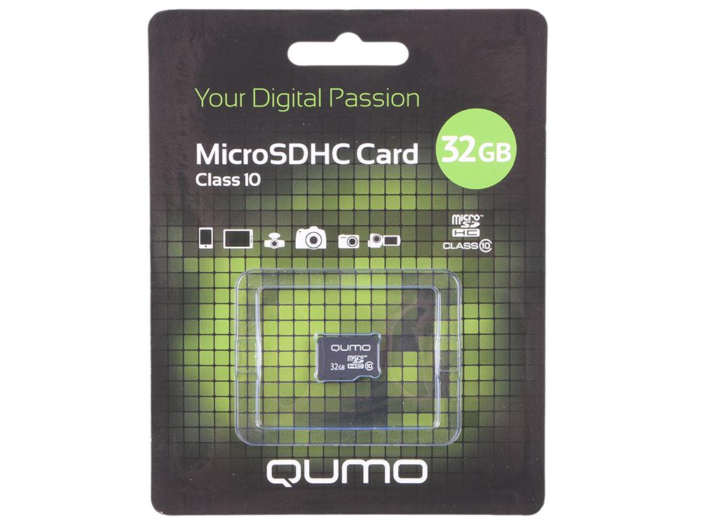 Карта памяти MicroSDHC 32Gb class 10 QUMO QM32GMICSDHC10NA transcend microsdhc class 10 32gb карта памяти адаптер