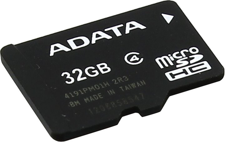 Карта памяти 32GB MicroSDHC Class 4 ADATA без адаптера adata s805 32gb gray