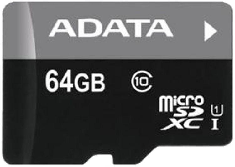 Карта памяти 64GB Premier MicroSDHC UHS-I Class 10 ADATA 40/15 MB/s без адаптера transcend sdxc class 10 uhs i u3х 64gb карта памяти