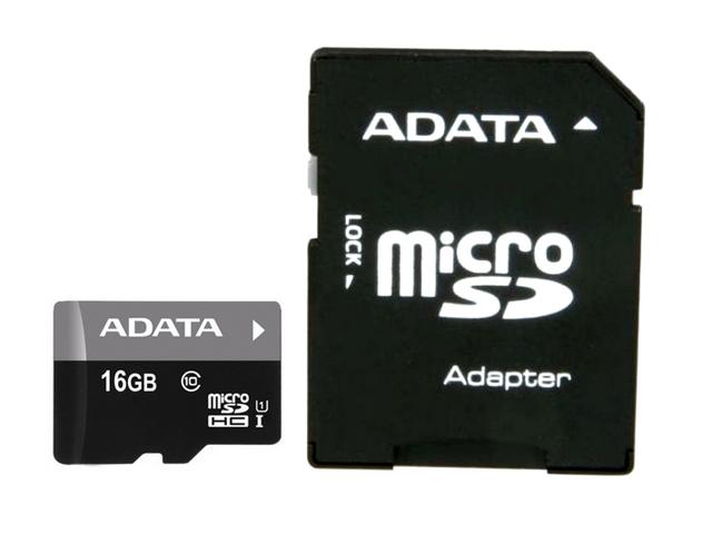 Карта памяти 16GB Premier A1 MicroSDHC UHS- Class 10 ADATA 90/25 MB/ с адаптером